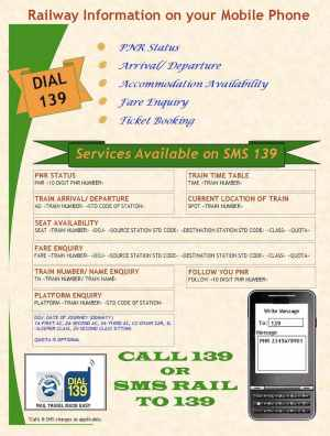 Railway SMS inquiry - Call 139 or SMS RAIL to 139